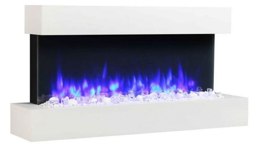 Wall Mounted Electric Fire With Remote Control By Endeavour