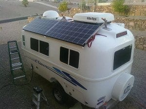 mobile home with solar panels