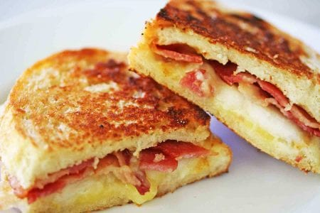 cheese and bacon toastie