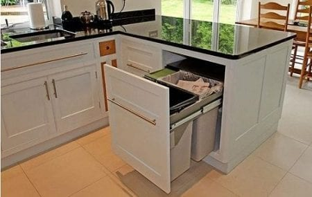 kitchen bin storage ideas space