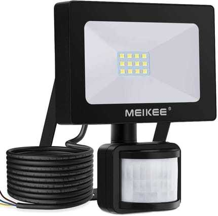 The Distinct 10W Security Lights with Motion Sensor By MEIKEE