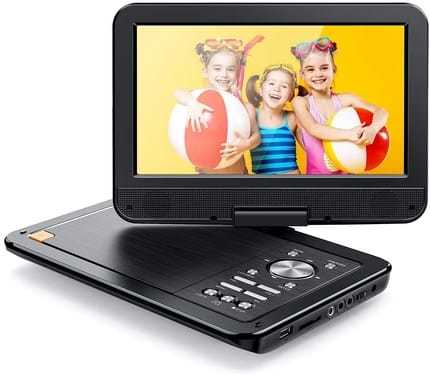 Portable DVD Player With Built-In Rechargeable Battery By APEMAN