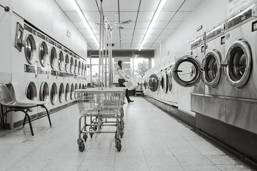 washing machines in laundrette